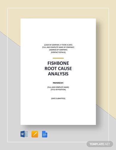 fish bone root cause analysis template