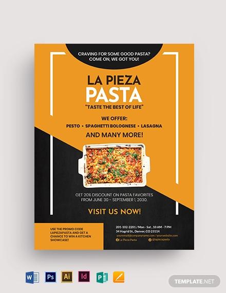 9+ Food Flyer Templates - Illustrator, InDesign, MS Word