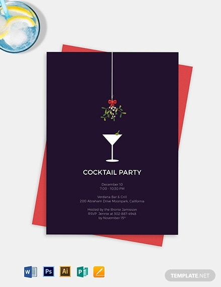 formal cocktail party invitation template 1