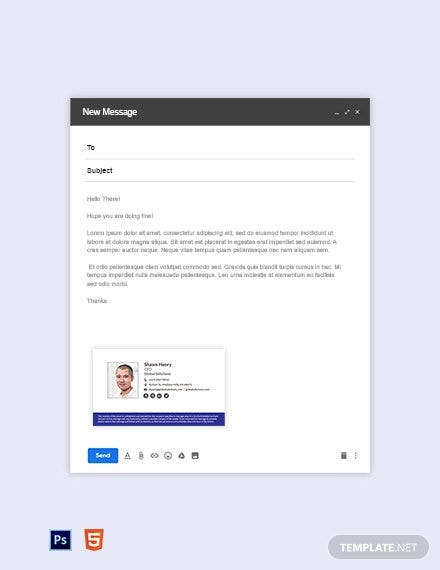 formal email signature template