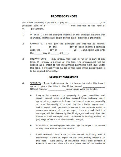 formal promissory note template