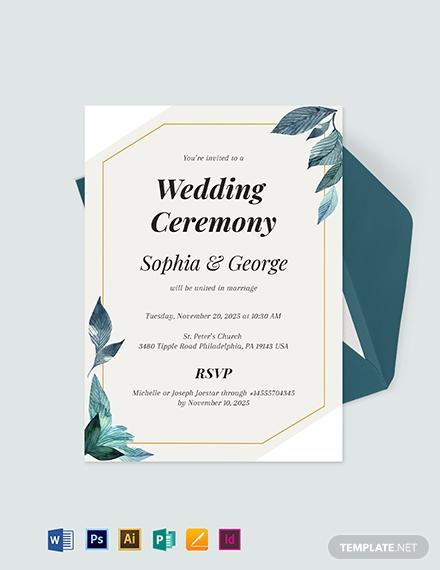 formal wedding invitation template 11