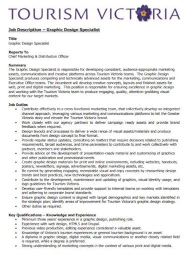 format graphic designer job description template