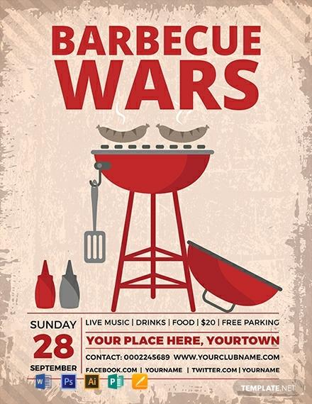 free bbq wars flyer template 440x570 1