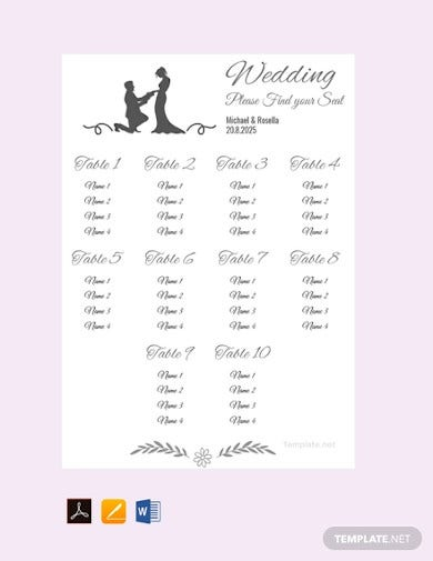 free banquet seating chart template1