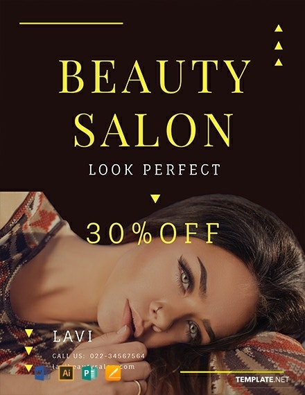 free beauty salon flyer template 440x570 1