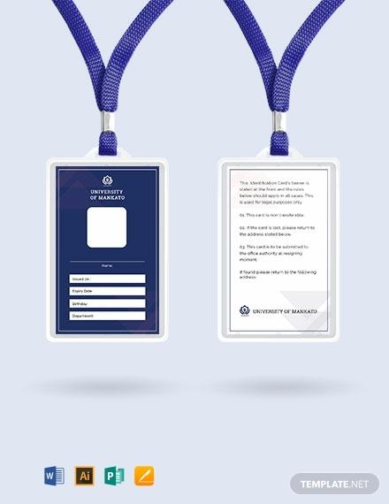 10 Editable Id Card Templates Illustrator Ms Word