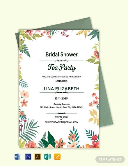 free bridal shower tea party invitation template 440x570 1