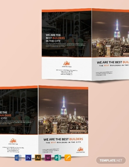 free building construction brochure template 440x570 1