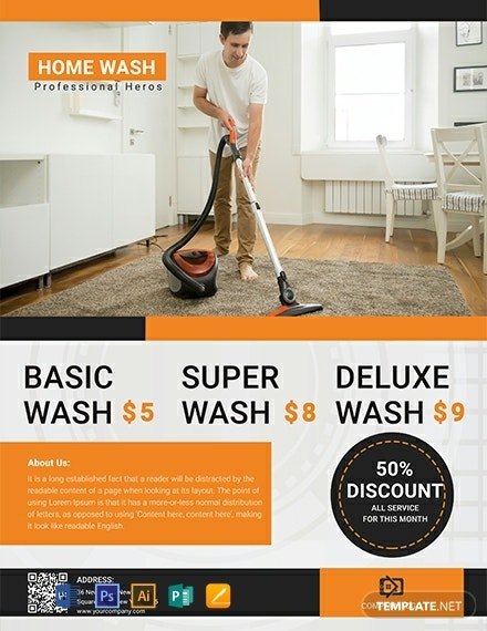 free cleaning service flyer template 440x570 1