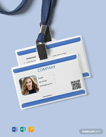 free company blank id card template 440x570 1