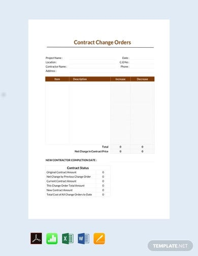free-contract-change-order-template