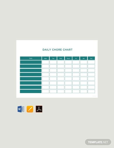free daily chore chart template3