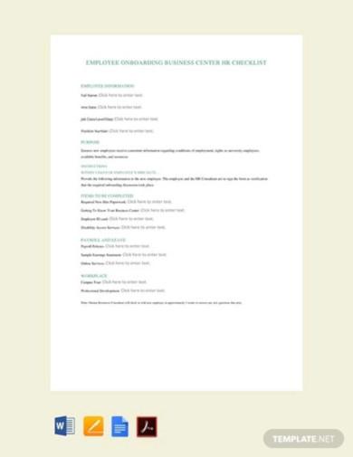 free employee hiring hr checklist2