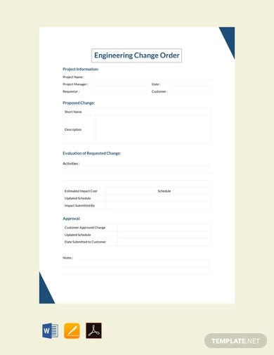 free engineering change order template1
