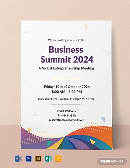 free formal meeting invitation template 440x570 1