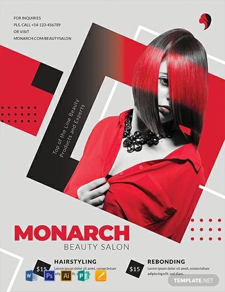 free hair salon flyer template 440x570 1