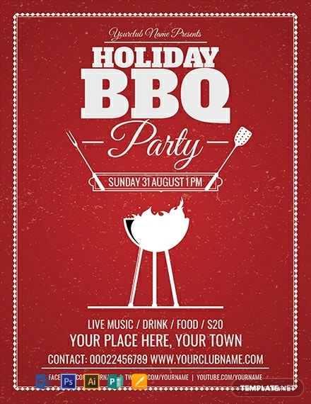 free holiday bbq flyer template 440x570 1