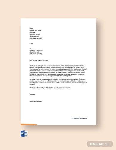 free interview rejection letter4