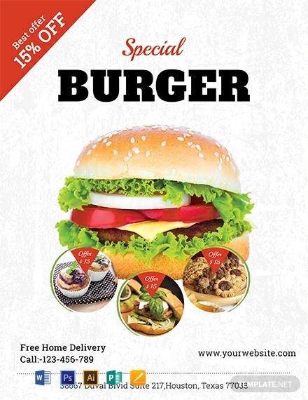 free modern bake sale flyer template 440x570 1