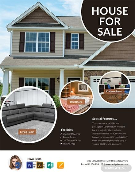 free modern open house flyer template 440x570 1