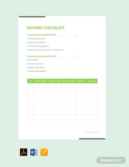 free moving checklist template1