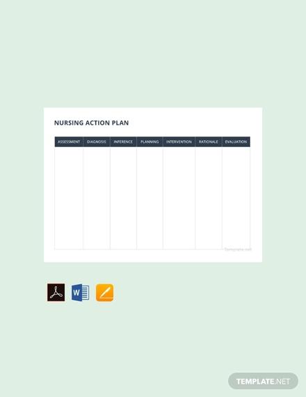 free nursing action plan template 440x570 1