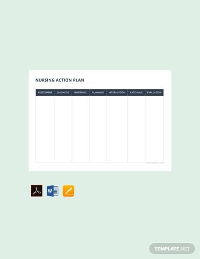 free nursing action plan in pdf
