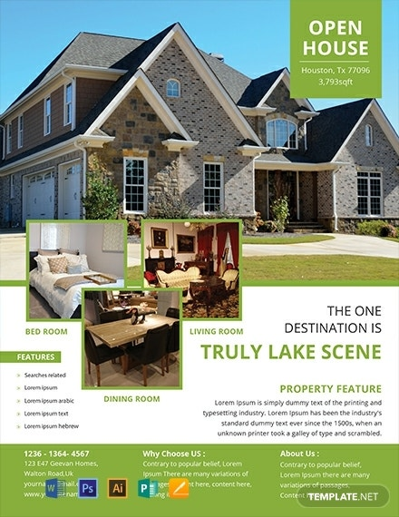 free open house flyer template 440x570 1