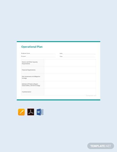 free operational plan