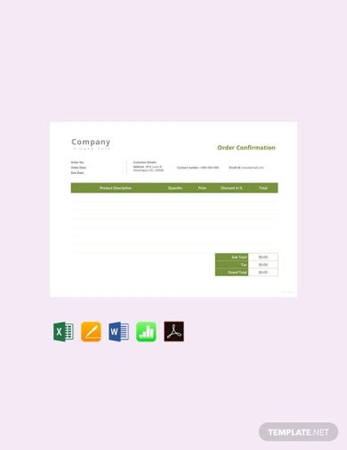 free-order-confirmation-templates