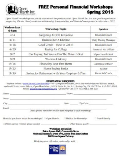 10 Financial Workshop Flyer Templates Pdf Free