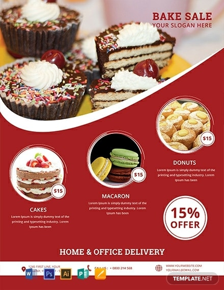 free printable bake sale flyer template