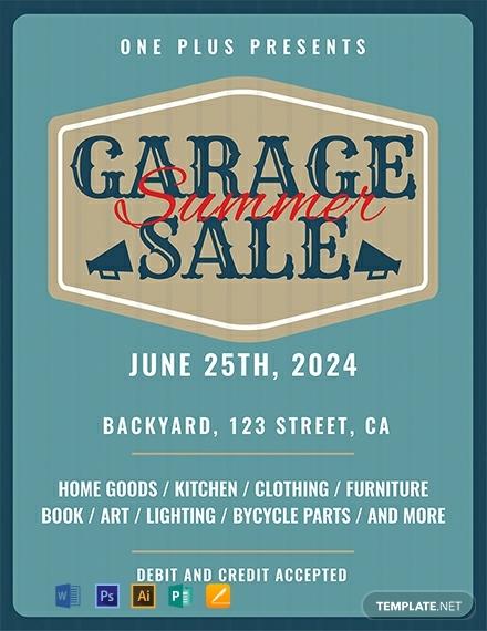 free printable garage sale flyer template
