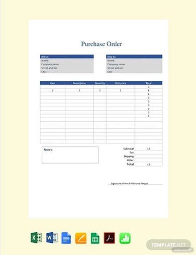free purchase order form2