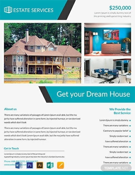 free real estate flyer template 440x570 1