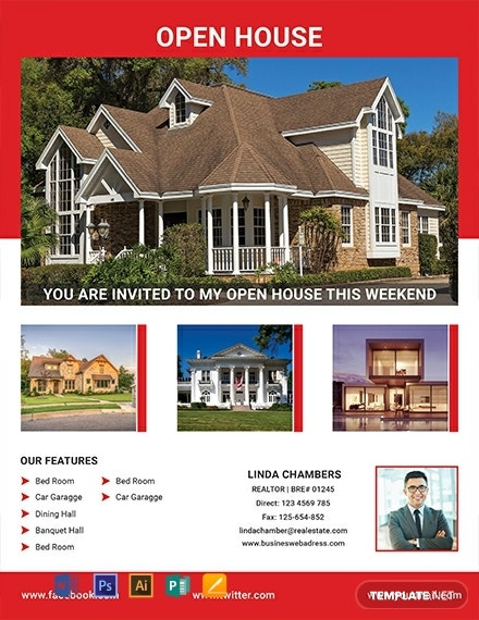 free realtor open house flyer template 440x570 1