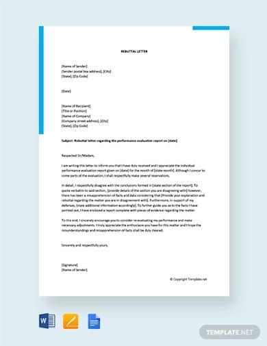 6  Rebuttal Letter Templates