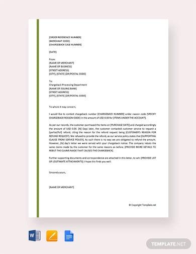 Letters Of Rebuttal