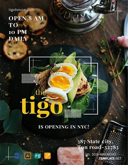 free restaurant flyer template 440x570 1