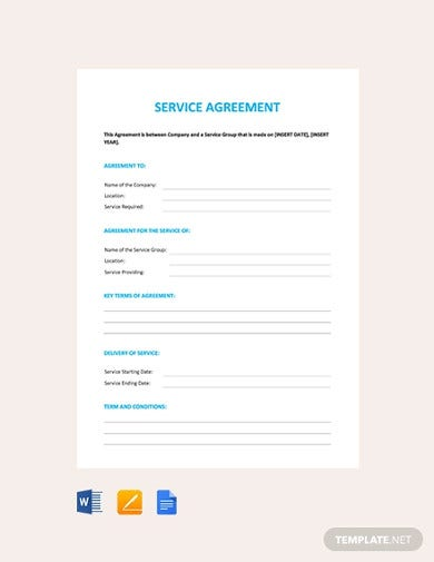 free service agreement template1