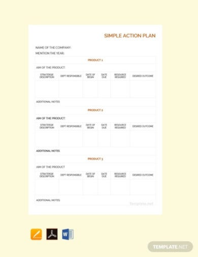 free simple action plan template1