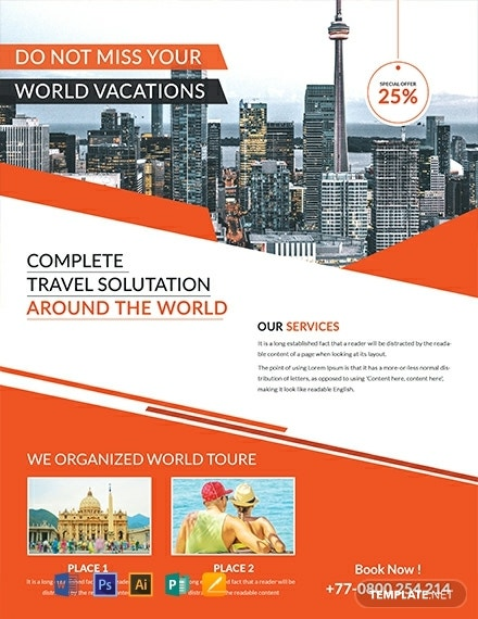 free travel service flyer template 440x570 1