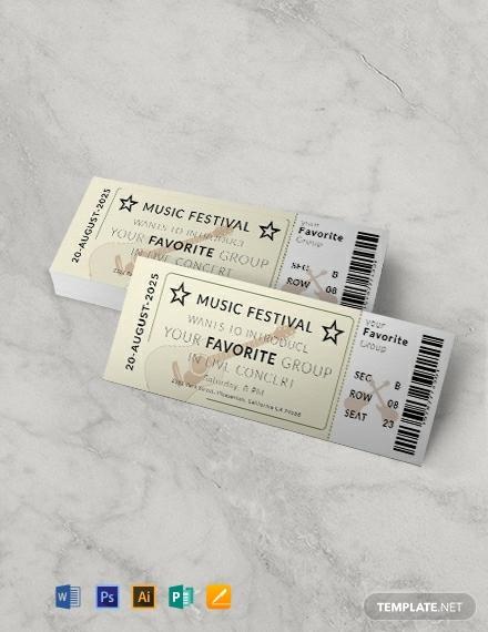 free vintage concert ticket template 440x570 11
