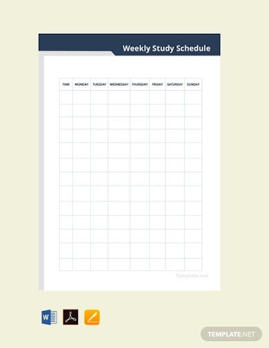 free weekly study schedule template1