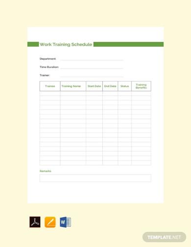 5  work training schedule templates google docs