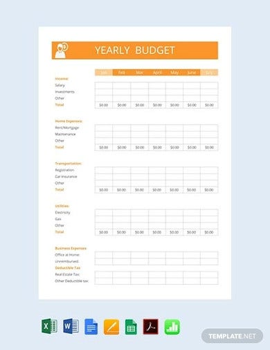 free yearly budget template1