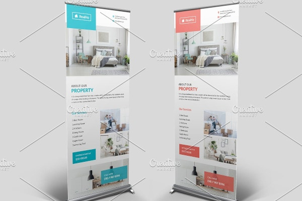 general realtor roll up banner template