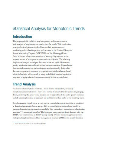 general statistical analysis example