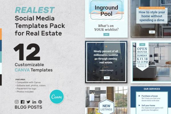 generic real estate banner template